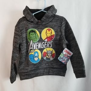 NWT Toddler Boy Avengers Hoodie Size 3T